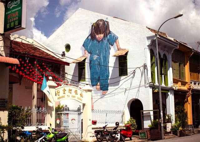 Уличное искусство. Граффити на острове Пенанг.