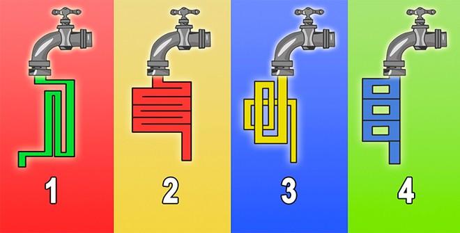 Через какой кран вода потечет быстрее? Простой тест на определение IQ.