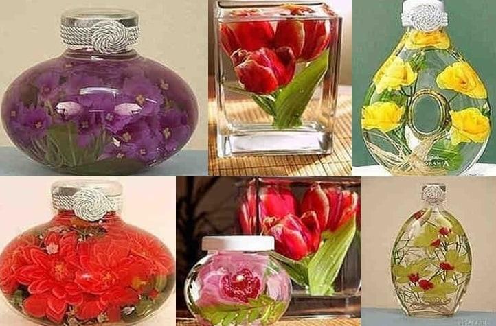 Цветочные миниатюры в глицерине! Оригинальные украшения для интерьера!