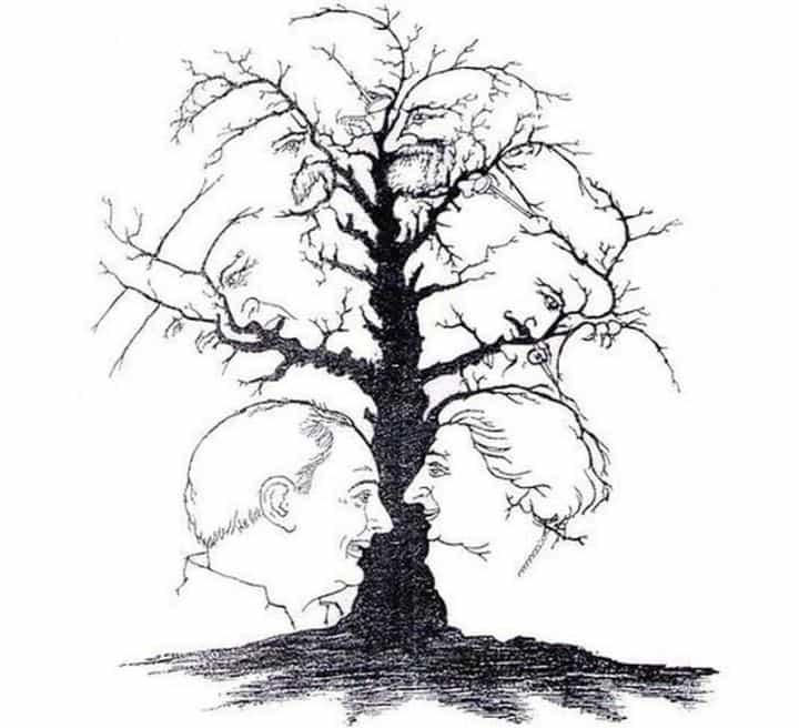 Сколько лиц Вы видите на картинке? Графическая загадка для наблюдательных!
