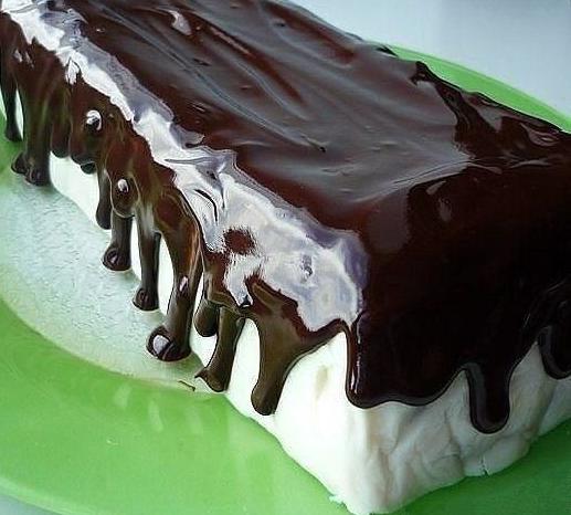 """Тортик без выпечки """"Полосатый"""". Настоящее объедение!"""