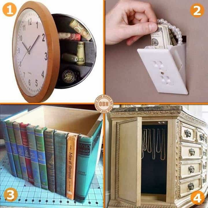 15 гениальных идей для тайника в доме!