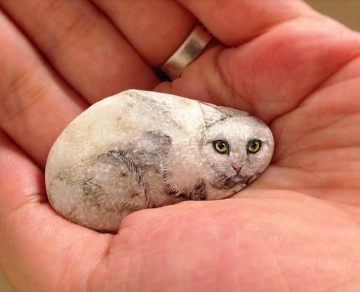 В ее руках камни превращаются в животных! Очень красиво!!!