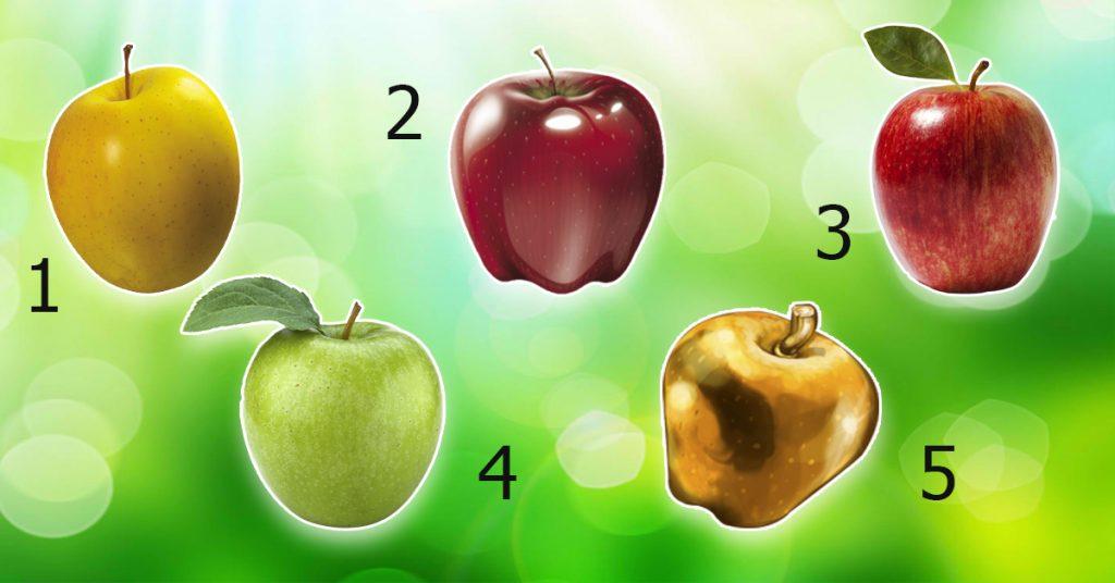 Какое из этих пяти яблок вы выберете?