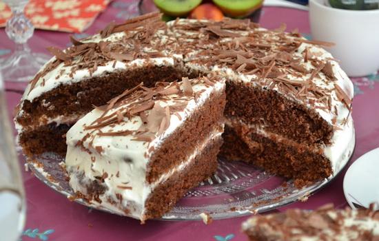 Тортик на кефире - простые ингредиенты, а так вкусно!