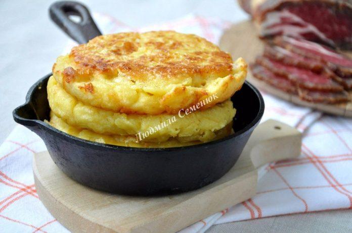 Вместо хлеба - кукурузные лепёшки с сыром! Восхитительно!!!