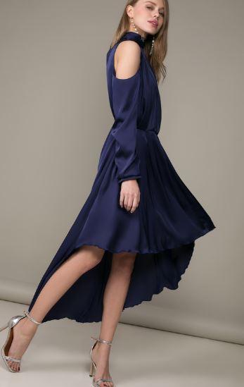 ассиметричное платье и босоножки