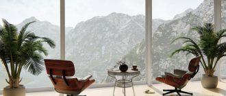 Интерьер дома в едином стиле: деревянная и металлическая мебель в интерьере.